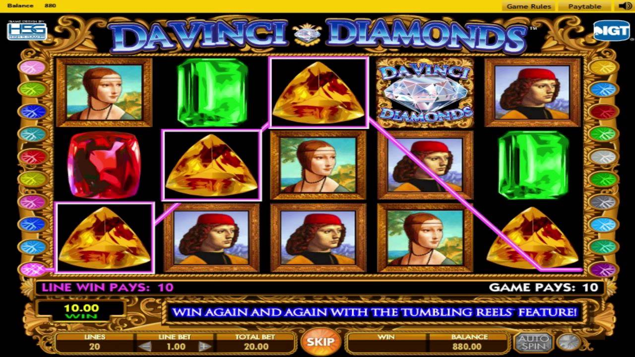 slot da vinci diamonds